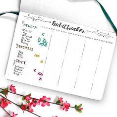 Bullet Journal Habit Tracker June - Wundertastisch