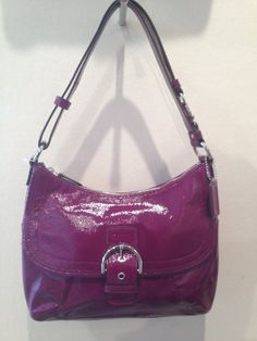 COACH Soho Patent Flap Duffle Handbag - the latest addition to my collection! <3