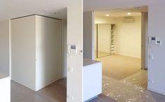 full height corner meeting cavity sliding doors