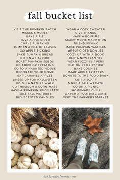 Fall 2020 Bucket List - Kathleen Balmonte