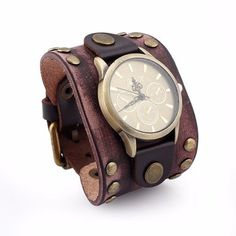 Rock Bracelet Watch Punk Retro Leather Vintage Bracelet Men Watch is hot-sale, stainless steel watch, sport watches for men, and more other cheap mens watches are provided on NewChic. Cheap Watches For Men, Cool Watches, Bracelet Antique, Vintage Bracelet, Bracelet Watch, Bracelet Men, Watch Brands, Bracelets For Men, Leather Bracelets