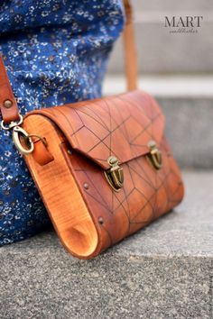 Leather and Wood bag. Clutches and Evening Bags 8d7c77ca5c976