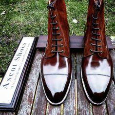 Vass Model: The Valley Derby High Boots Vass last: F last Vass colour: 6125 Dark Cognac Calf