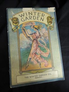 Vintage 1921 New York Theatre Magazine Winter Garden Nouveau Deco Flapper Ads