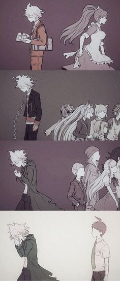 The artwork and comics do not belong to me, credits go to the original artists Also, I might've put the same pictures twice. Danganronpa Funny, Super Danganronpa, Danganronpa Characters, Danganronpa Monokuma, Fanart, Danganronpa Trigger Happy Havoc, Nagito Komaeda, Image Manga, Another Anime