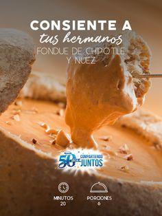 Nada mejor para consentir a tu familia en la siguiente reunión que un Fondue de chipotle y nuez.  #recetas #receta #quesophiladelphia #philadelphia #crema #quesocrema #queso #comida #cocinar #cocinamexicana #recetasfáciles