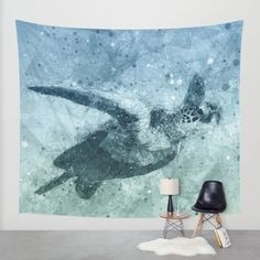 Buy Geometric Flying Green Sea Turtle Wall Tapestry by Nirvana.K. Worldwide shipping available at Society6.com. Just one of millions of high quality products available.