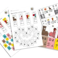 Confusions b, d, p et q - Elau Speech Language Therapy, Speech And Language, Everything Preschool, Alternative Education, Alphabet Phonics, Phonological Awareness, Pre Writing, Teaching French, Learning Through Play
