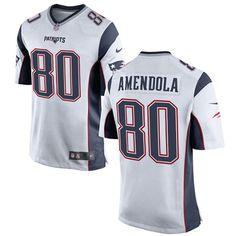 Nike New England Patriots Men's #80 Danny Amendola Game White Road NFL Jersey
