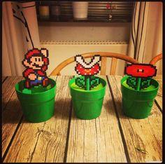 Hama bead. Super Mario. Inspirert av Pappas pärlor