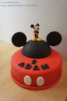 Gâteau Mickey en pâte à sucre/ Mickey cake