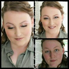 My beautiful Bride today for her Wedding makeup.  Soft with gold tones. No wing liner. Natural and beautiful