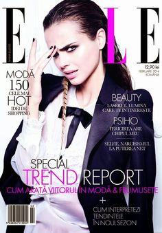 Magazines - The Charmer Pages   Xenia Deli For Elle Magazine Romania  February 2014 Revista Elle d1fdf7f3a22