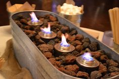 Another indoor s'more option for our I DO BBQ Rehearsal Dinner