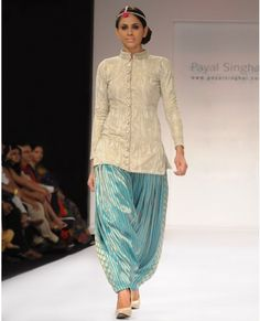 Embroidered Off-whitey Sharwani Kurta and Salwar