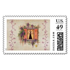 COTSWOLD COTTAGE: Vintage Sweet Summer Postage Stamp