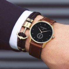 """""""Gentlemen`s MUST HAVE! Signature Line watch & anchor bracelet from @paul_hewitt. #getAnchored #paulhewitt @paul_hewitt"""""""