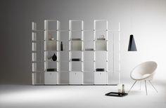 Dieffebi,  estanterias metálicas modelo Cwave diseñado por Gianmarco Blini. Mobiliario de diseño para oficinas. (Agente exclusivo para España)