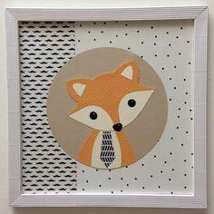tableau renard décoration chambre enfant bébé