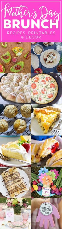 Mother's Day is on it's way and a lot of us (myself included) love to celebrate with a delicious brunch. Breakfast foods, lunch foods, desserts…what's not to love? This month we have 9 recipes and 2 different craft and decorating ideas for your brunch celebrations. And the best part is they don't have to be …