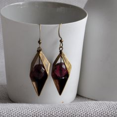 Our gorgeous Diamond Point Dangly Earrings in Purple are Dangly Earrings, Drop Earrings, Diamond Point, Summer Fashion Trends, Czech Glass Beads, Geometric Shapes, Antique Brass, Free Gifts, Earrings Handmade