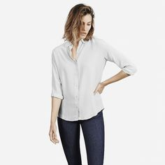 Everlane silk light grey