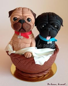 Pugs Cake topper by Luz Igneson