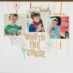 Scrapbook Page Designs that Appeal to the Senses | Kristy T | Get It Scrapped