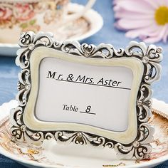 Flourish Design Place Card Photo Frames