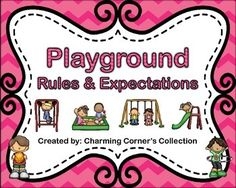 playground rules for preschoolers playground and visuals great resource recess 131