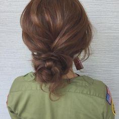 Media?size=l Bride Hairstyles, Cute Hairstyles, Medium Hair Styles, Long Hair Styles, Hair Arrange, Hair Setting, Hair Strand, Hair Lengths, Bridal Hair