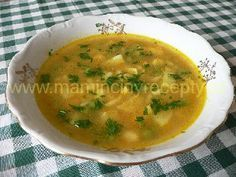 Hrášková s krupicovými noky Czech Recipes, Ethnic Recipes, What To Cook, Food 52, Soups And Stews, Cheeseburger Chowder, Thai Red Curry, Food And Drink, Cooking Recipes