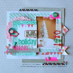 I love this use of non holiday paper with a holiday photo!