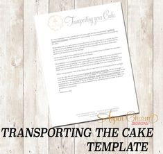 Transporting the Cake Form for my Cake Business Baking Business, Cake Business, Business Logo, Cake Templates, Cake Pricing, Cake Tasting, Sugar Flowers, Text Color, Gum Paste