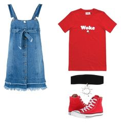 Untitled #2 by krvepami on Polyvore featuring polyvore, fashion, style, Steve J & Yoni P, Converse, Hot Topic and clothing