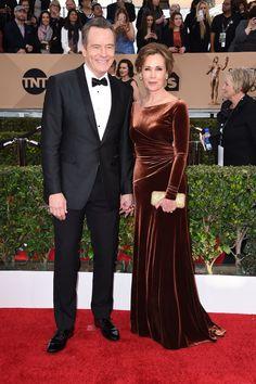 Pin for Later: Les Couples Ont Dominé le Tapis Rouge Lors des SAG Awards Bryan Cranston et Robin Dearden