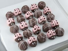 ladybug truffles @Jessica Chitwood - Couldn't help but think of M