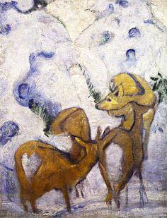 Franz Marc, Deer in the Snow I, 1909-1910