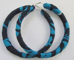 Extra large hoop African Ankara covered earrings by ChicAfrica