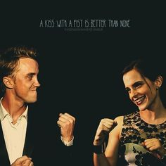 This is really cute and I love Florence and the Machines and this song, but I hate that it implies that their relationship would be rough and they would fight a lot. Always Harry Potter, Harry Potter Universal, Harry Potter World, Draco And Hermione, Hermione Granger, Draco Malfoy, Welcome To Hogwarts, Dramione, Tom Felton