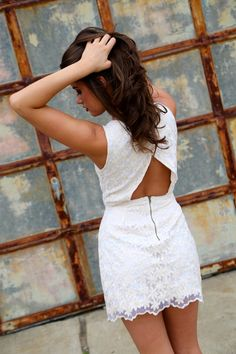 Love the open back on this dress!