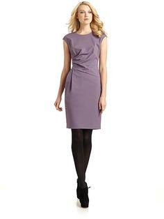 Lafayette 148 New York Ruched Waist Sheath Dress: Saks
