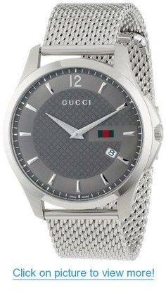 4ef0d0f8618 Gucci Men s Gucci Timeless Anthracite Diamond Pattern Watch