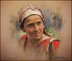 Javad Soleimanpour Javad Solimanpour was born in Tebriz ( Iran ) . His first exhibition was in 1978 at a time when he was working on reproductions of the famous paintings in Saadabat Palace M Soft Pastel Art, Pastel Drawing, Painting & Drawing, Soft Pastels, Pinturas Color Pastel, Pastel Portraits, Pastel Paintings, Portrait Inspiration, Portrait Art