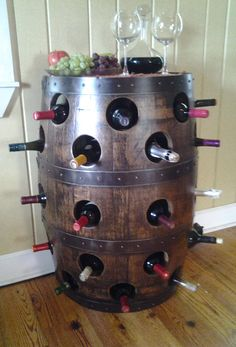 Whiskey Barrel Wine Rack
