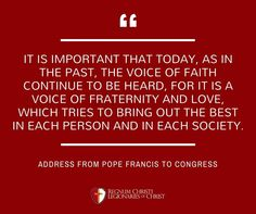 Pope Francis Legionaries Of Christ, Pope Quotes, The Kingdom Of God, Pope Francis, Fraternity, The Voice, Bring It On, Faith, Good Things