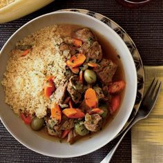 Lamb Tagine with Green Olives and Lemon // More Great North African Recipes: http://www.foodandwine.com/slideshows/north-african #foodandwine