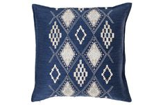 Janu 20x20 Pillow, Indigo - Laid-Back Luxe - Week 0/Migrated - Sales Events   One Kings Lane