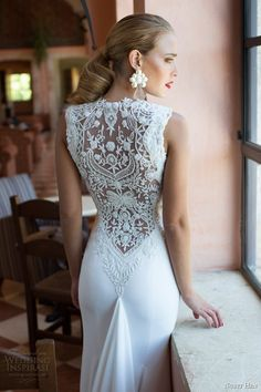Nurit Hen Summer 2014 #bridal collection: #wedding dress with back beading #weddingdress #weddinggown