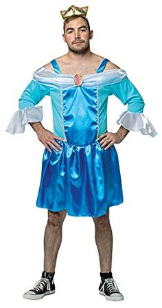 UHC Mens Cinderfella Outfit Comical Funny Theme Party Halloween Costume Plus